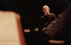 Director John Ellis in rehearsal