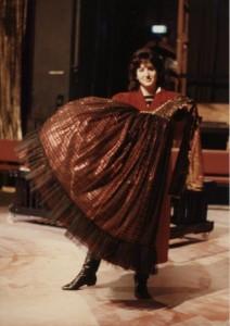 Marion MacKenzie (Jo) in rehearsal