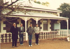 Outside Essington's childhood home - The Burra, South Australia