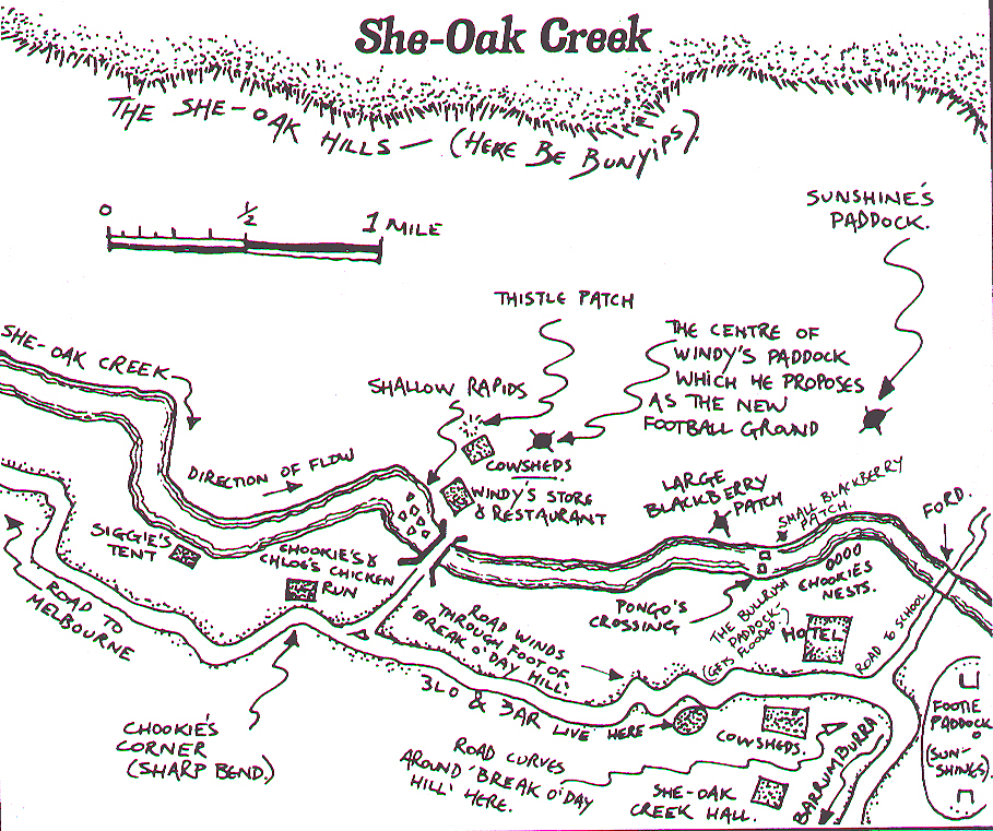 Map drawn by Deanna Doyle